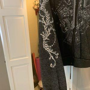 Miss Me Jackets & Coats - Miss Me Front Zip Hoodie